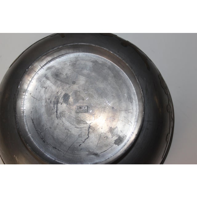 1940's Pewter Bowl For Sale - Image 5 of 5
