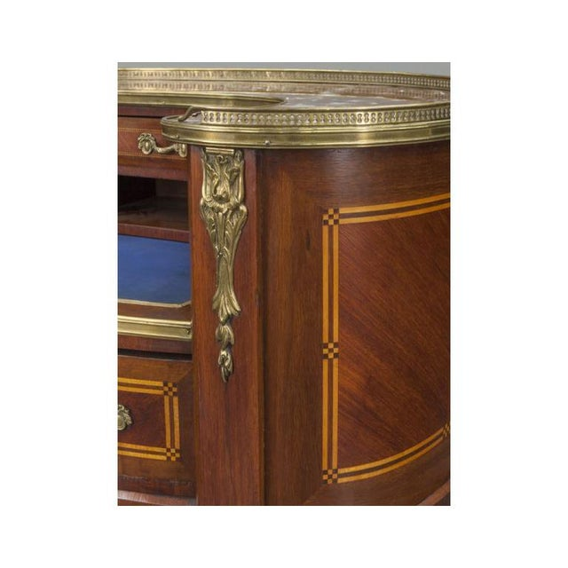 Early 20th Century French Louis XV Mahogany Kidney Shaped Ladies Desk For Sale - Image 9 of 11