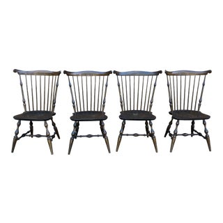 Nichols & Stone Windsor Back Dining Chairs - Set of 4 For Sale