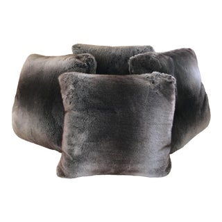 Faux Fur Throw Pillows - Set of 4