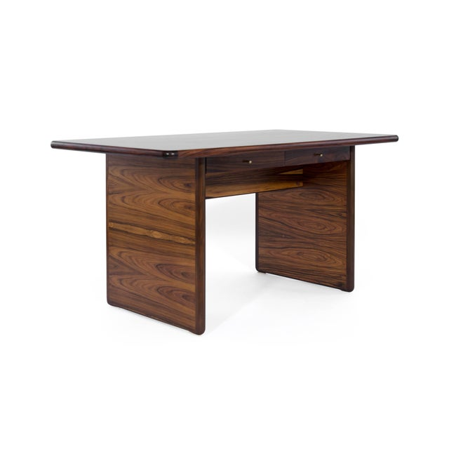 Mid-Century Modern Danish Modern Rosewood Desk For Sale - Image 3 of 10