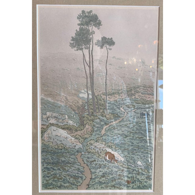Green 19th Century Art Nouveau Henri Riviere Print Brittany For Sale - Image 8 of 8