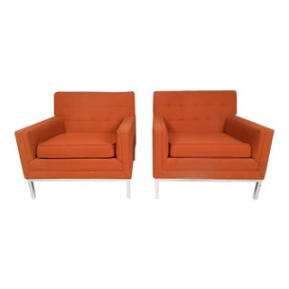 Mid-Century Modern Knoll Style Lounge Chairs - a Pair For Sale