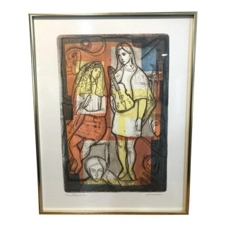 Irving Amen Original Woodblock Print For Sale