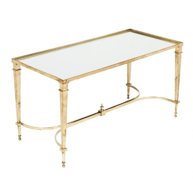 Art Deco Brass and Mirror Coffee Table For Sale - Image 11 of 11