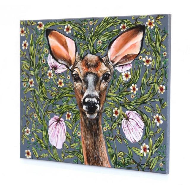 """""""Deer"""" Original Artwork by Naomi Jones For Sale In Los Angeles - Image 6 of 9"""