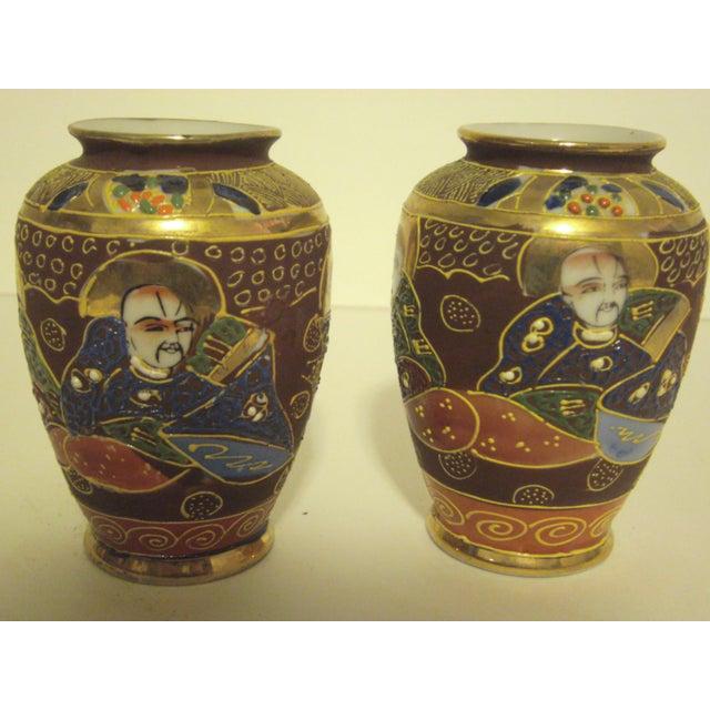 Satsuma Vases & Ginger Jars - Three Pair - Image 7 of 11
