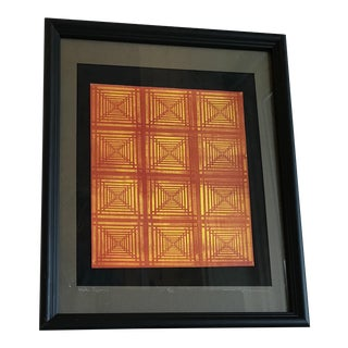 Modern Geometric Numbered Print For Sale