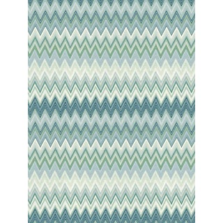 Scalamandre Zig Zags, Peacock Wallpaper For Sale