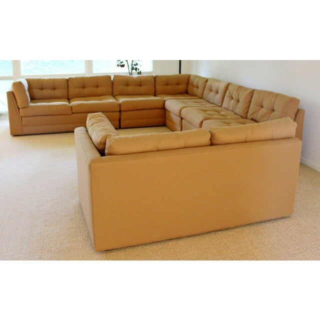 Contemporary Modern Vladimir Kagan for Preview 5 Pc L Shape Sectional Sofa 1980s For Sale In Detroit - Image 6 of 9