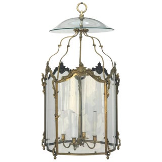 Late 18th Century Vintage Louis XV Bronze Doré Lantern For Sale