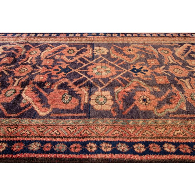 """Apadana - Vintage Persian Malayer Runner Rug, 3'0"""" X 9'6"""" For Sale In New York - Image 6 of 7"""