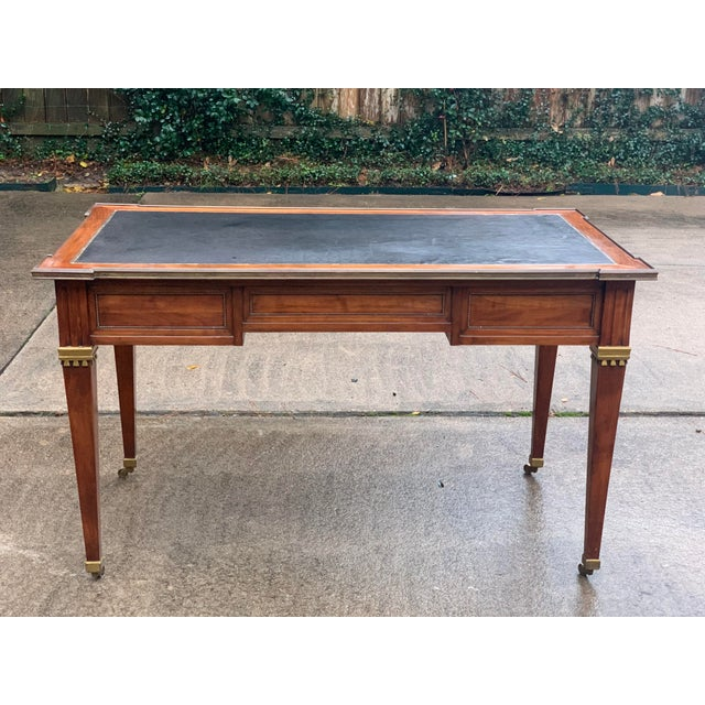 Brown Directoire Style Writing Desk With Leather Top For Sale - Image 8 of 11