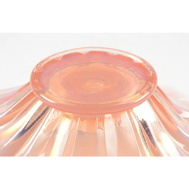 1950s Fostoria Opalescent Pink Mid Century Candleholder. Set/2 For Sale - Image 5 of 6