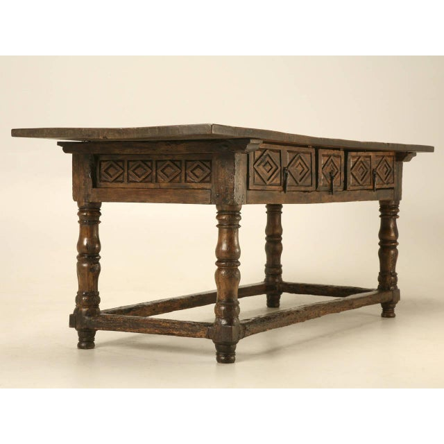 Spanish Colonial table made during the end of the 1600s, or very beginning of the 1700s, found in the city of Nimes. The...