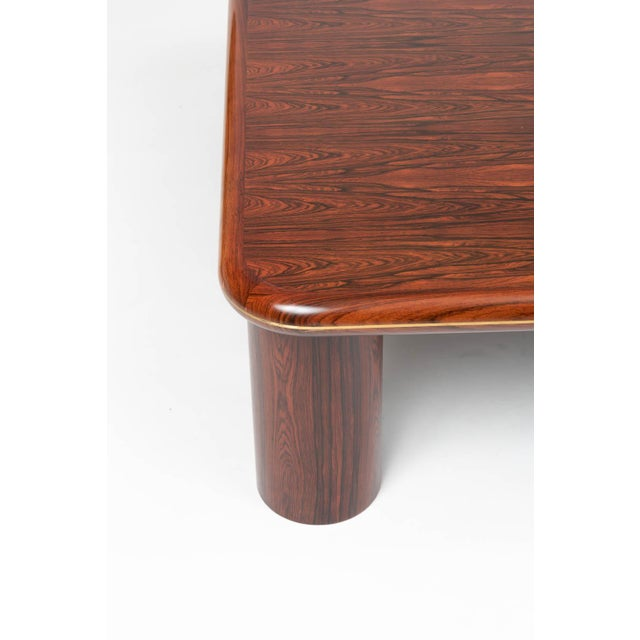 Metal Monumental Danish Rosewood Coffee Table For Sale - Image 7 of 9