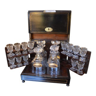 Antique French Cave A' Liqueur Cabinet - Set of 18 For Sale