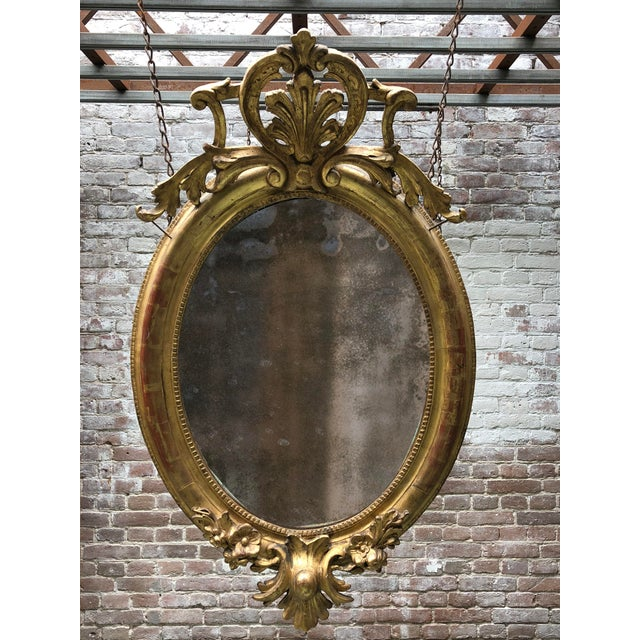 19th Century Ovale Mirror South of France For Sale - Image 12 of 13
