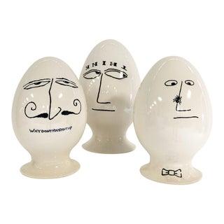 LaGardo Tackett Eggheads, Set of 3 For Sale