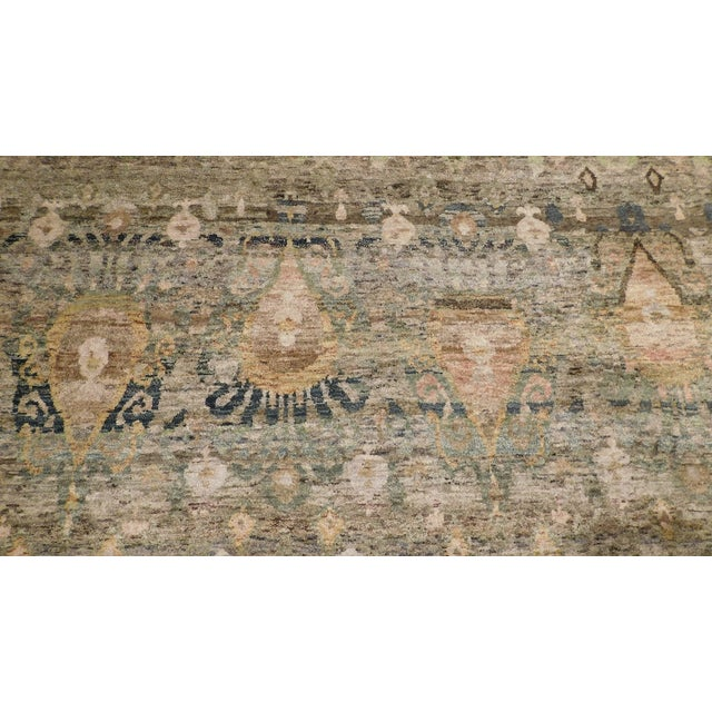 """Transitional Hand-Knotted Luxury Rug - 8'11"""" x 12' - Image 3 of 6"""