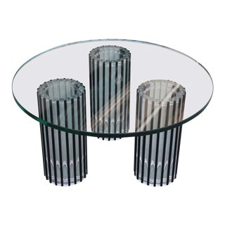 Modern Lucite Rod Coffee Table by the Ritts Furniture Company of Los Angeles For Sale