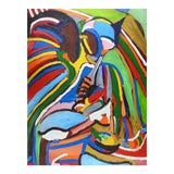 Image of Bright Lines Abstract Painting For Sale