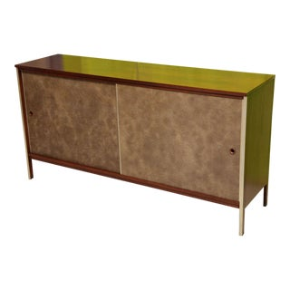Calvin Collection by Paul McCobb Walnut Breakfront Buffet For Sale