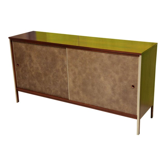 Calvin Collection by Paul McCobb Walnut Breakfront Buffet - Image 1 of 9