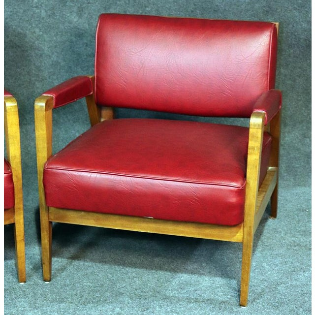 Mid-Century Modern Mid-Century Modern Tiger Maple Lounge Chairs - a Pair For Sale - Image 3 of 10