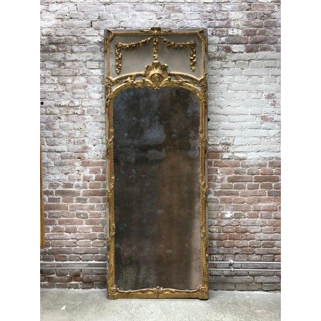 Louis XVI 18th Century Trumeau Mirror For Sale - Image 9 of 10