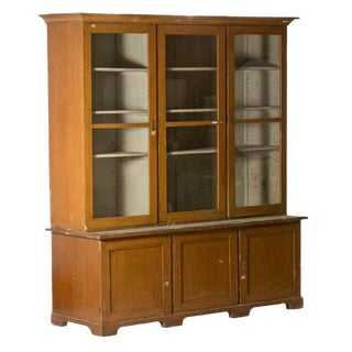 Late 19th Century Vintage Dutch Wooden Bookcase For Sale