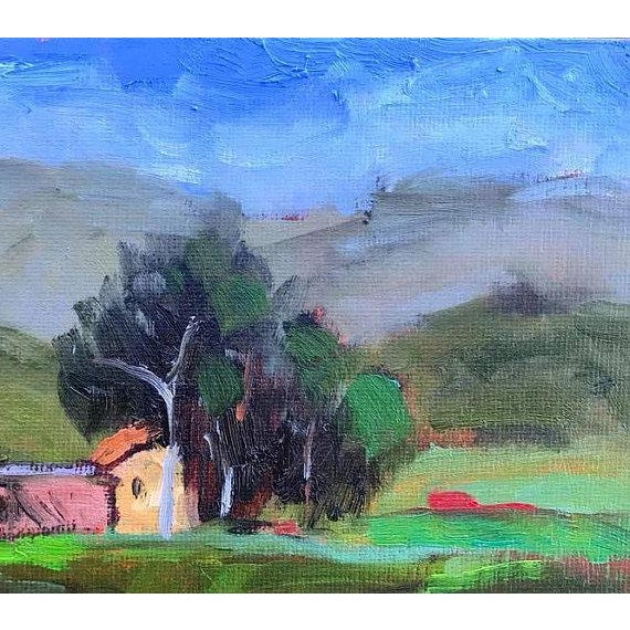 Gesso Pena Adobe Park Vacaville Oil Painting For Sale - Image 7 of 8