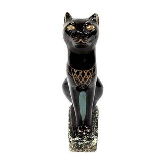 Signed Vintage Egyptian Black Bastet Cat For Sale