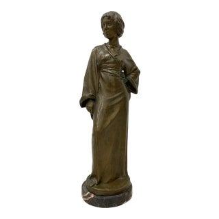 Arnold Katsch (German, B.1861) Outstanding Art Nouveau Bronze C.1912 For Sale