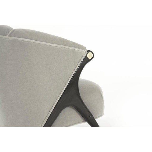 Mid 20th Century Karpen Modernist Lounge Chairs in Taupe Mohair, 1950s - a Pair For Sale - Image 5 of 8
