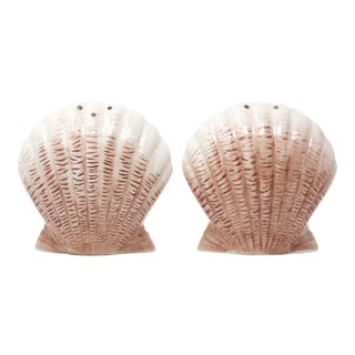 "Scallop Shell ""By the Sea"" Salt & Pepper Shakers by American Atelier - Set of 2 For Sale"