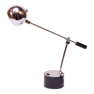 1970s Diminutive Chrome Ball Articulating Table Lamp For Sale