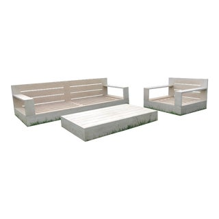 Restoration Hardware Marbella Outdoor Set For Sale