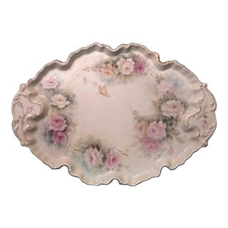 Vintage French Porcelain Vanity Tray