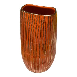 1950s Italian Pottery Vase Attributed to Aldo Londi for Bitossi For Sale