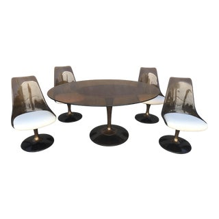Chromcraft Smoked Lucite Dining Set