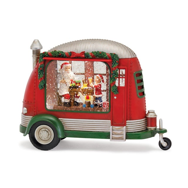 Traditional Kenneth Ludwig Camper With Santa & Elf Snow Globe For Sale - Image 3 of 3