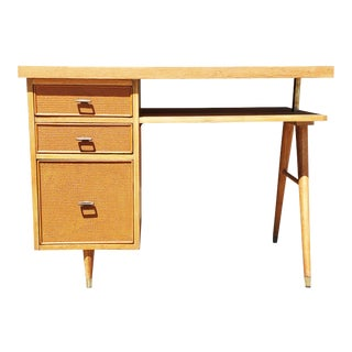 1960s Mid-Century Modern Tanker Desk For Sale