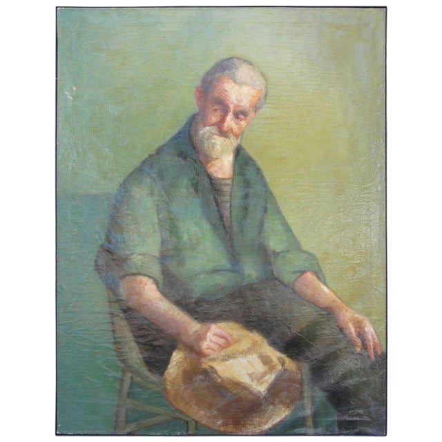 Early 20th Century Oil on Canvas Portrait of a Man - Image 1 of 8