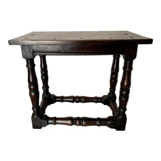 18th Century English Joint Stool For Sale