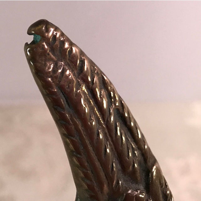 Mid-Century Landing Brass Eagle Figurine For Sale - Image 10 of 10