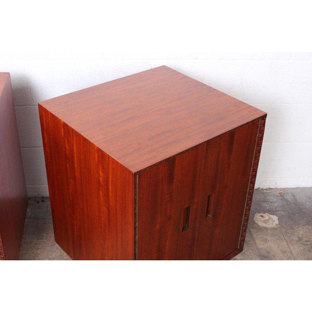 """Frank Lloyd Wright """"Taliesin"""" Nightstands for Henredon For Sale - Image 9 of 11"""