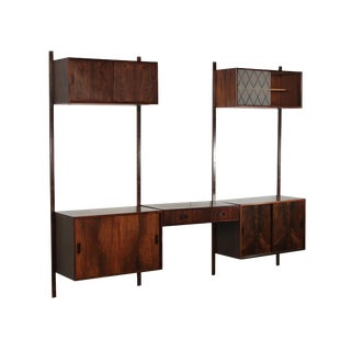 Mid Century Rosewood Wall Unit