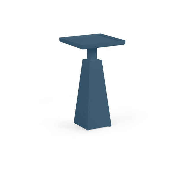 Transitional Casa Cosima Hayes Spot Table, Van Deusen Blue For Sale - Image 3 of 3