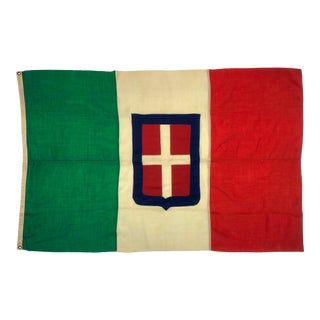 Antique Wool Kingdom of Italy Flag For Sale